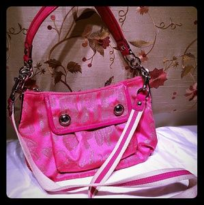 Hot pink coach poppy two strap purse